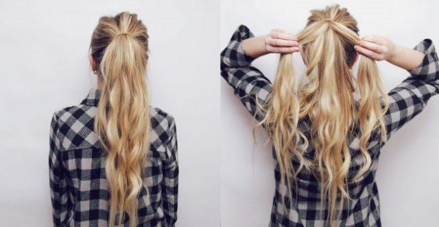 Einfache lange geflochtene Frisuren