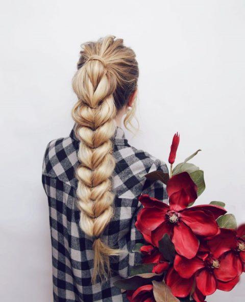 easy-lang-geflochtene Frisuren-8