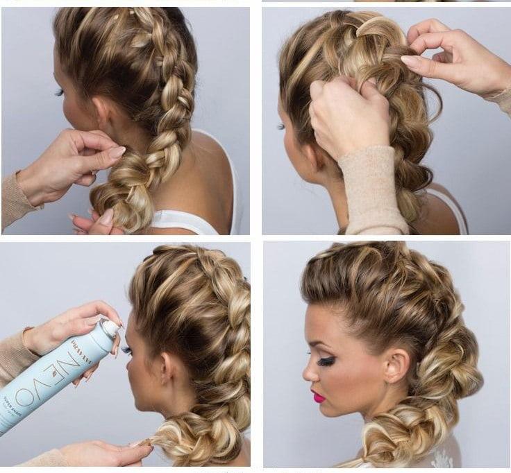 Прически на средние волосы косы пошаговые фото