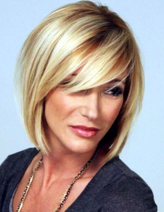 Hairstyles for women over 40 Blonde Medium hair