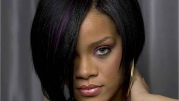Rihanna Hairstyles 2016-2017 Medium Straight Black Hair