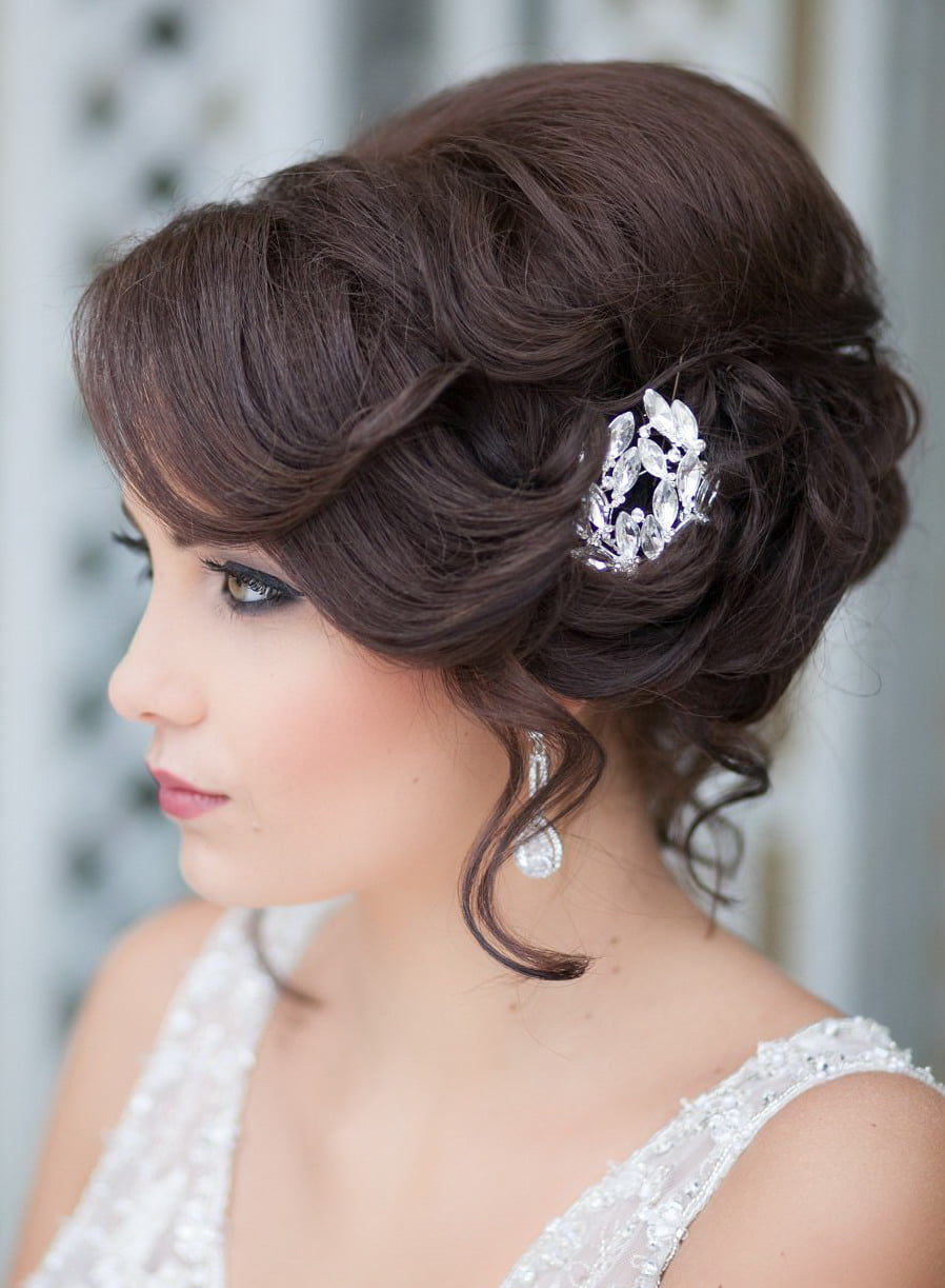 "Wedding Hairstyles – "" For medium hair 10 new variants ..."