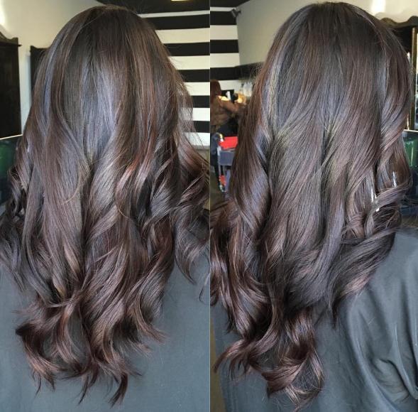 Layered Frisuren und Haarschnitte schwarz langes Haar 2017