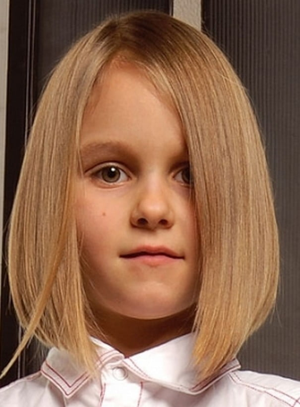 20162017 Winter Little Girls Hairstyles Haircuts Blonde Straight Hair
