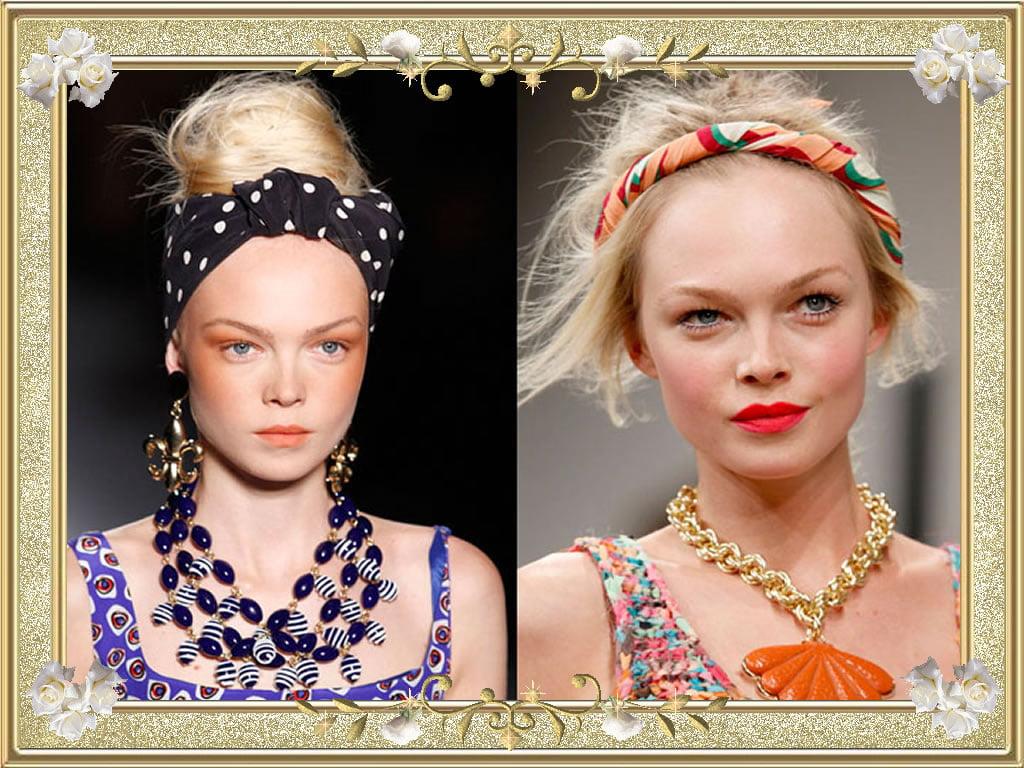 Charming Bandana Frisuren für blonde unordentliche Haare