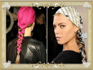 Cute Bandana Hairstyles For Braided Long Hair