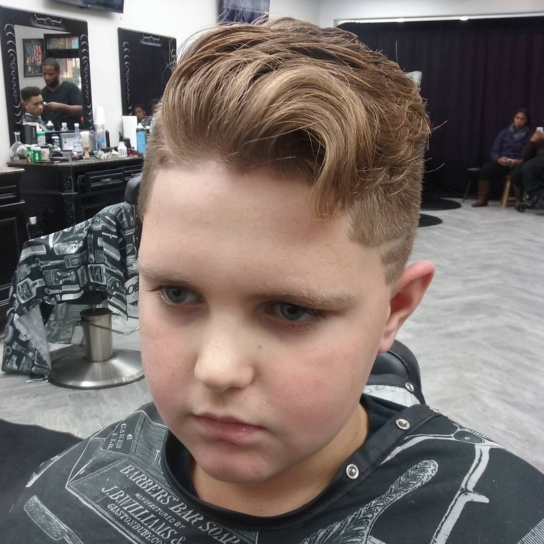 Side Pompadour Hairstyles For Little Boys Kids 2016 2017