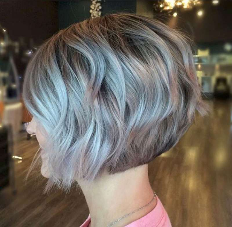 Gray Short Haircuts over 50 for women 2017