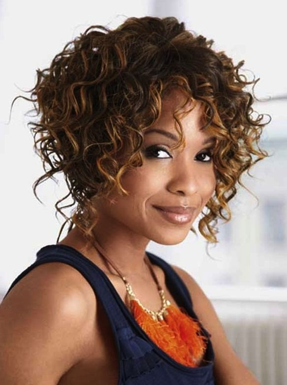 Hottest Christmas hairstyles for short Curly hair Black Women 2017 Chocolate Brown Hair