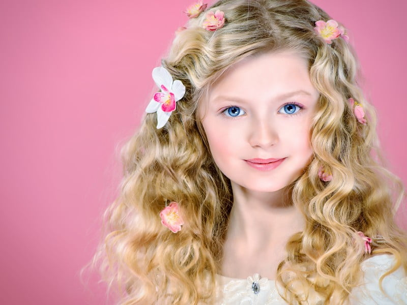 Детские прически на длинные волосы, фото. Красивые прически