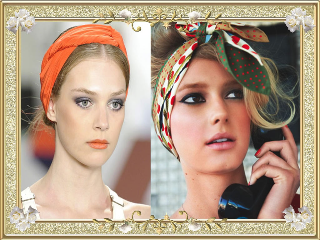 Unglaubliche Orange Bandana Hairstyes für Mädchen