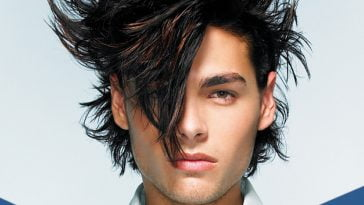 Short Messy Hairstyles for men with Long faces 2017