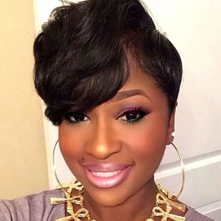 short haircut with bangs for black women haircuts models