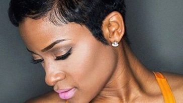 Very Short Straight Hairstyles for black women 2017