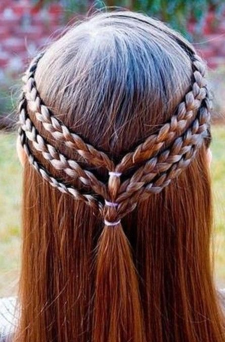 Braided Straight Hairstyes for girls 2016-2017