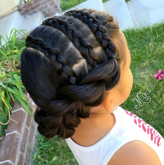 Braided Hairstyes for Oval Faces Little Girls 2016-2017