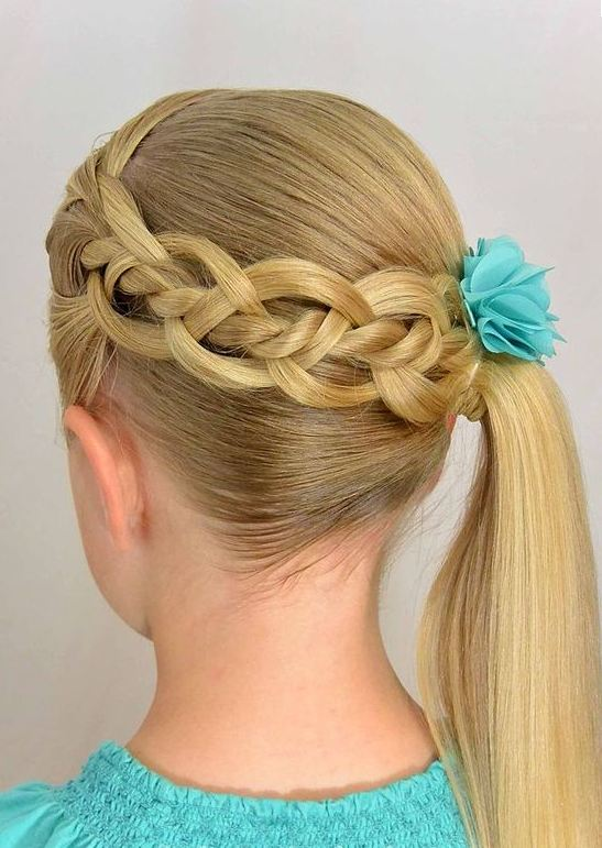 Blonde Braided Hairstyes for Little Girls 2016-2017