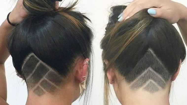 Undercut Hairstyle Ideas With Shapes For Women's Hair In