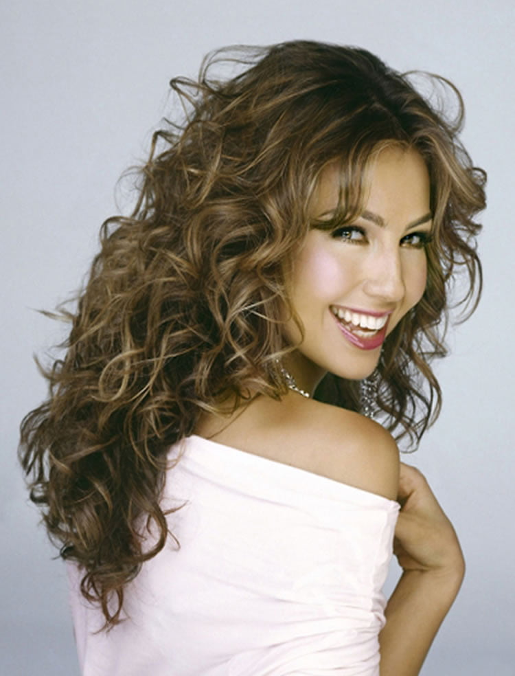 ... Attractive Perm Long Curls Hairstyles