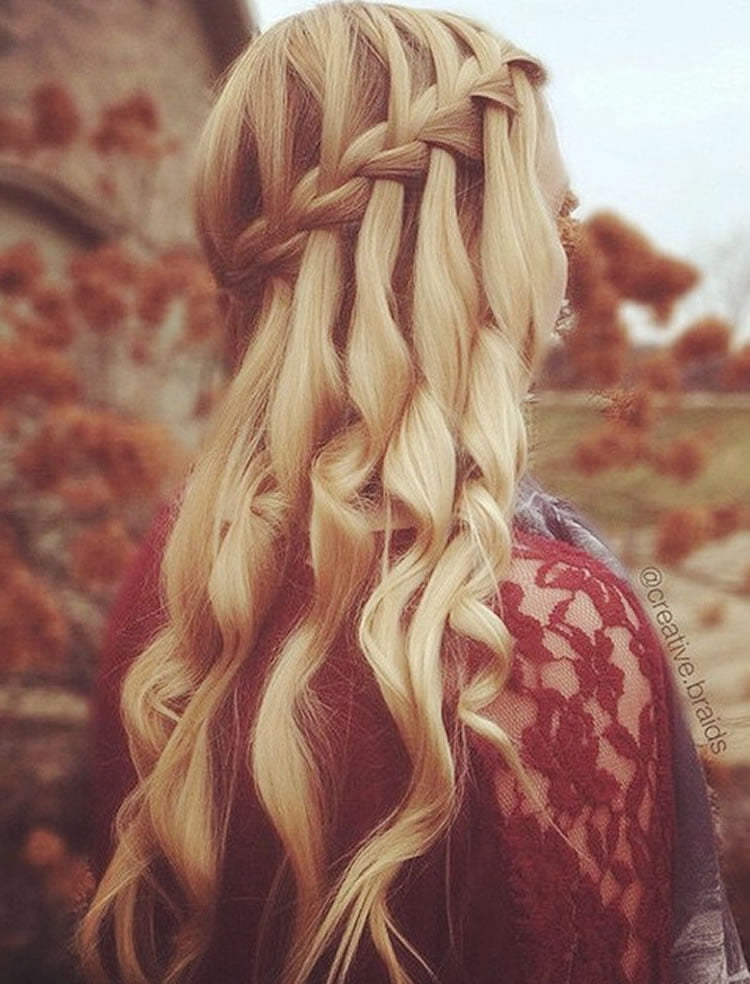 100 Chic Waterfall Braid Hairstyles How To Step By Step Images Amp Videos Hairstyles