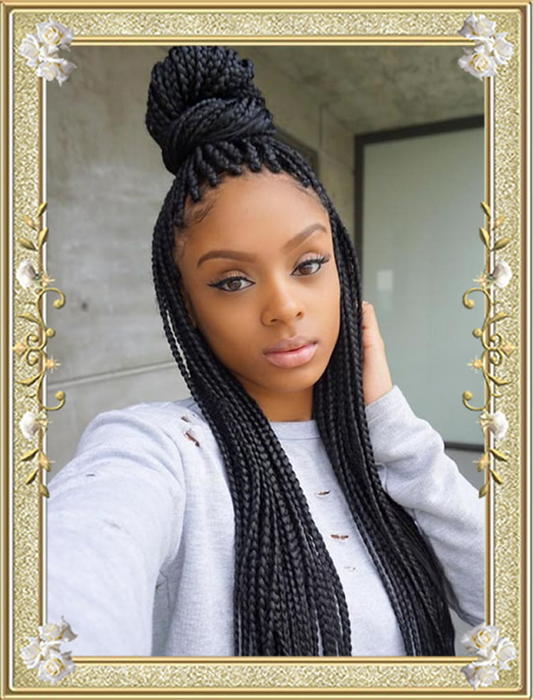 60 Delectable Box Braids Hairstyles for Black Women | Attractive ...