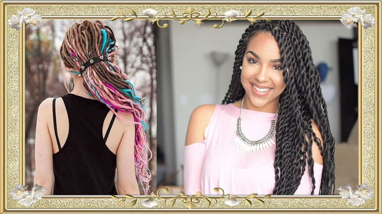 37 Wedding Hairstyles For Black Women To Drool Over 2017: Braided Box Long Hairstyles For Women