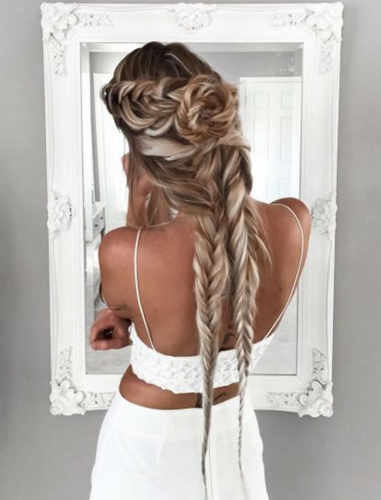 Braided hairstyles to the side 2017