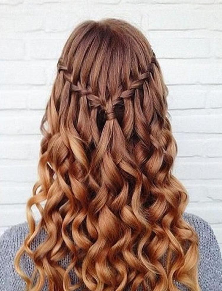 Chic Waterfall Braid Hairstyles Step