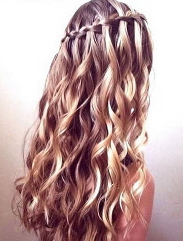 100 Chic Waterfall Braid Hairstyles - How to Step by Step Images & Videos | Page 4 of 9