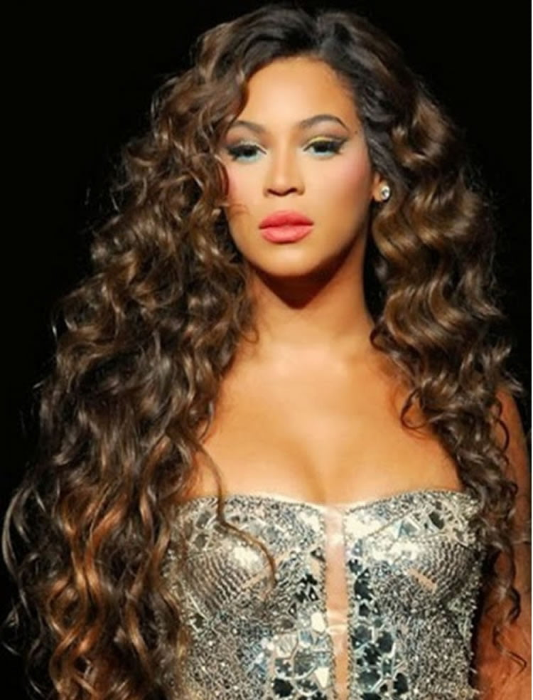 Delightful Fantastic Long Perm Hair For Black Women Curly Hairstyles