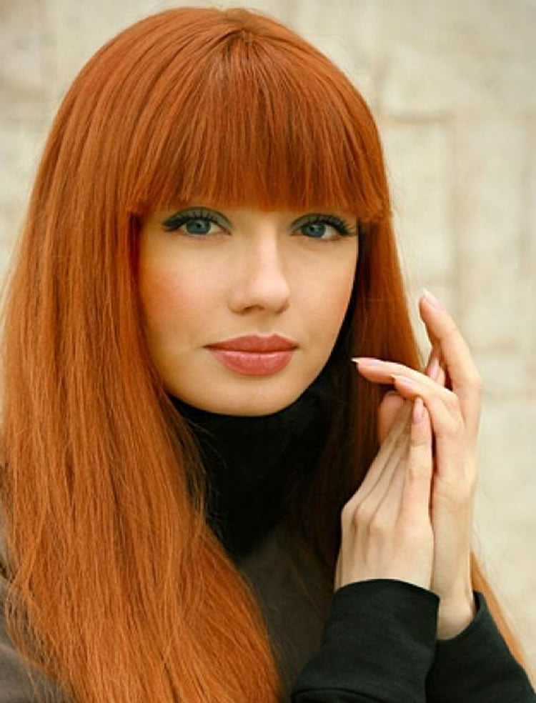 100 Cute Inspiration Hairstyles with Bangs for Long, Round, Square Faces | Page 3 of 9
