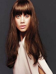 Front Fringe Hairstyles For Long Hair