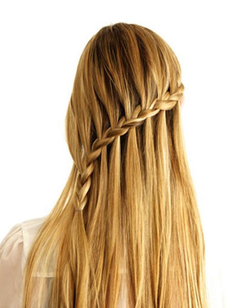 Prom Hair Waterfall Braid Hairstyles