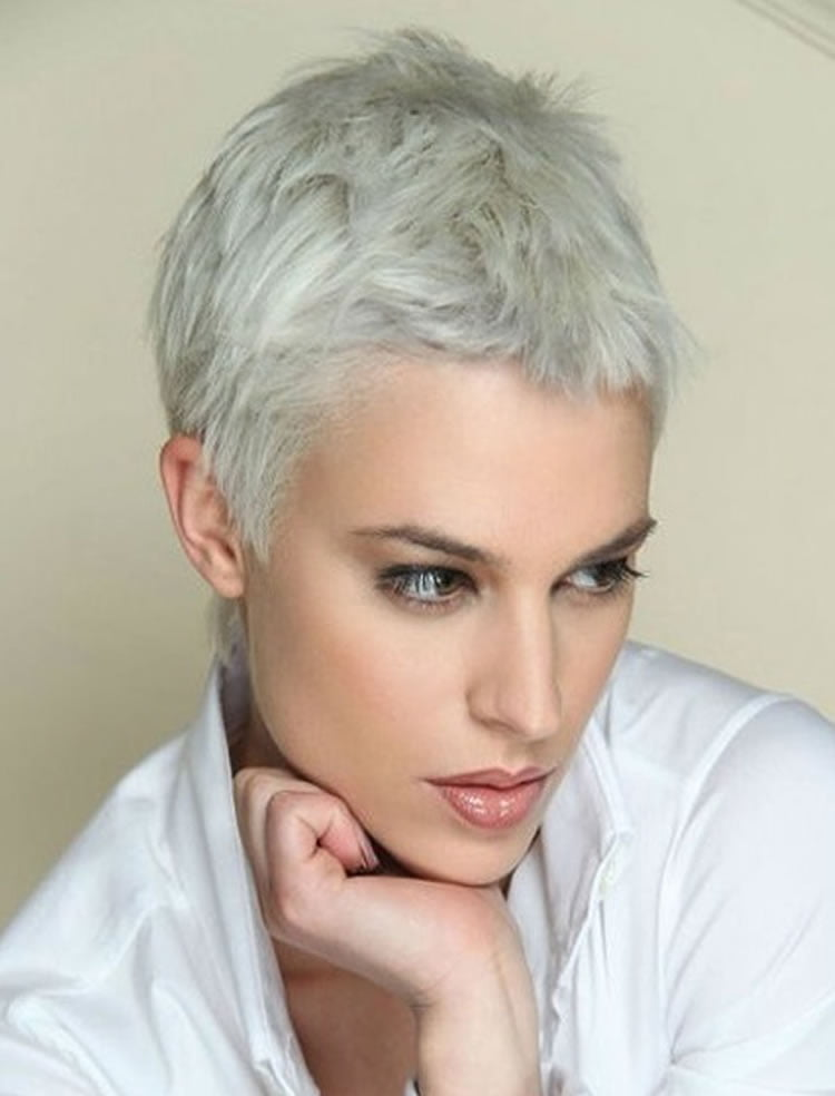 White hair haircuts