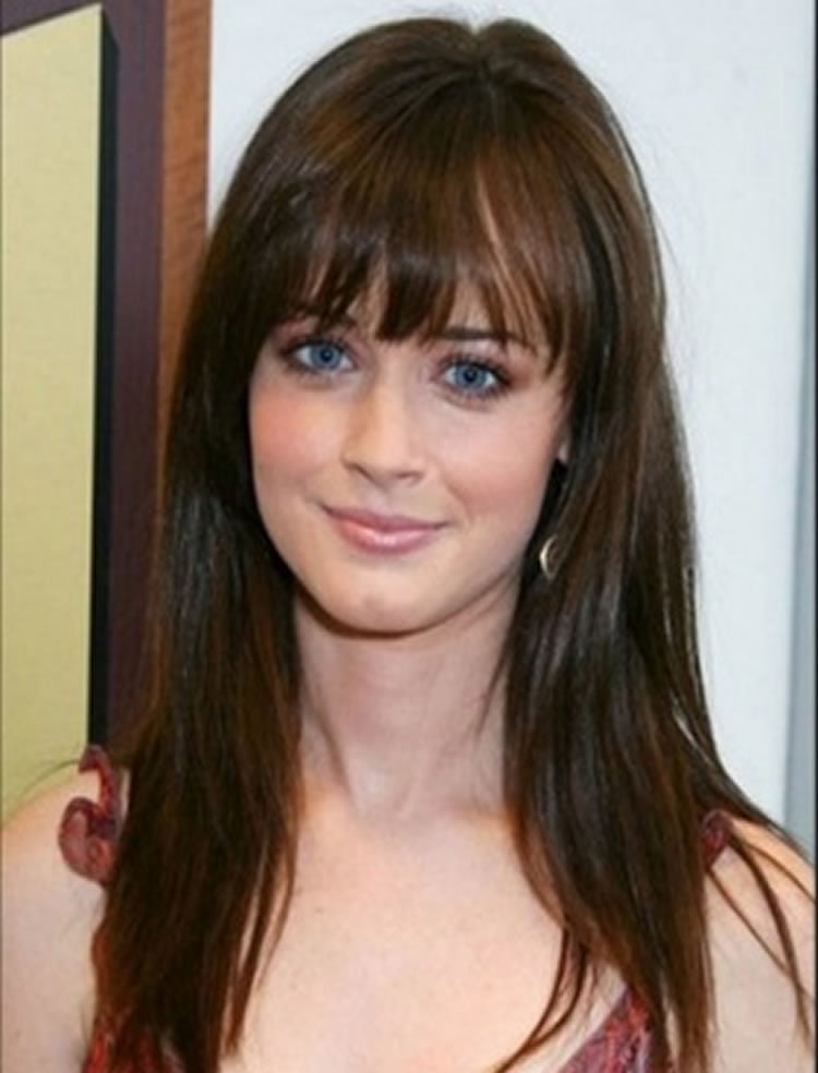 100 Cute Inspiration Hairstyles With Bangs For Long Round Square