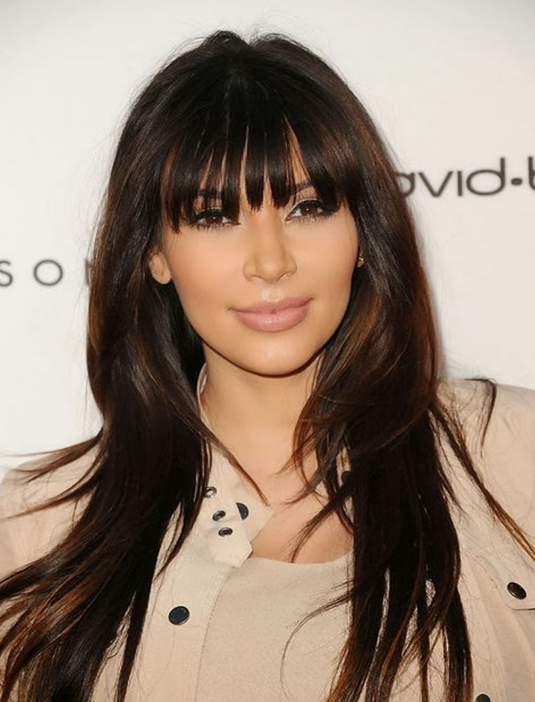 100 Cute Inspiration Hairstyles With Bangs For Long, Round