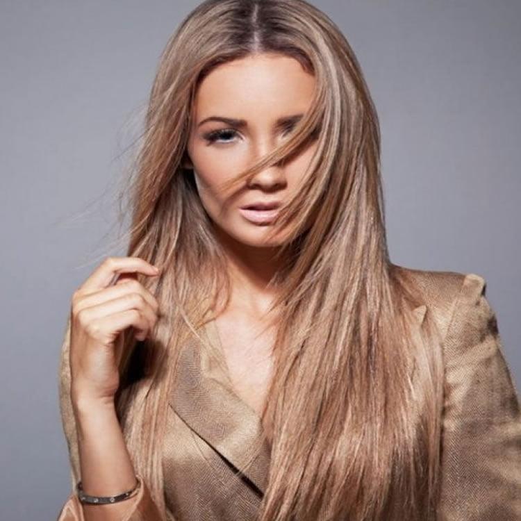 Chic Center Teil Brown Frisuren für langes Haar
