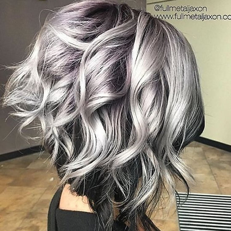 Delectable Ombre Silver to black short hair 2017 – HAIRSTYLES
