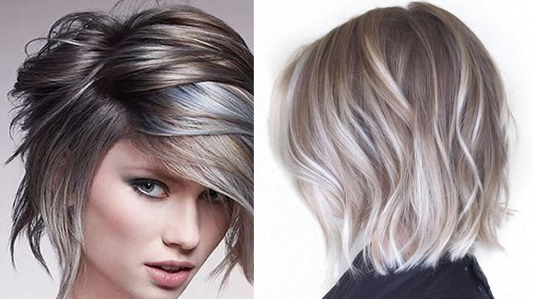 Short Grey Hairstyles: Ombre For Short Hair With 100+ Different Type Of
