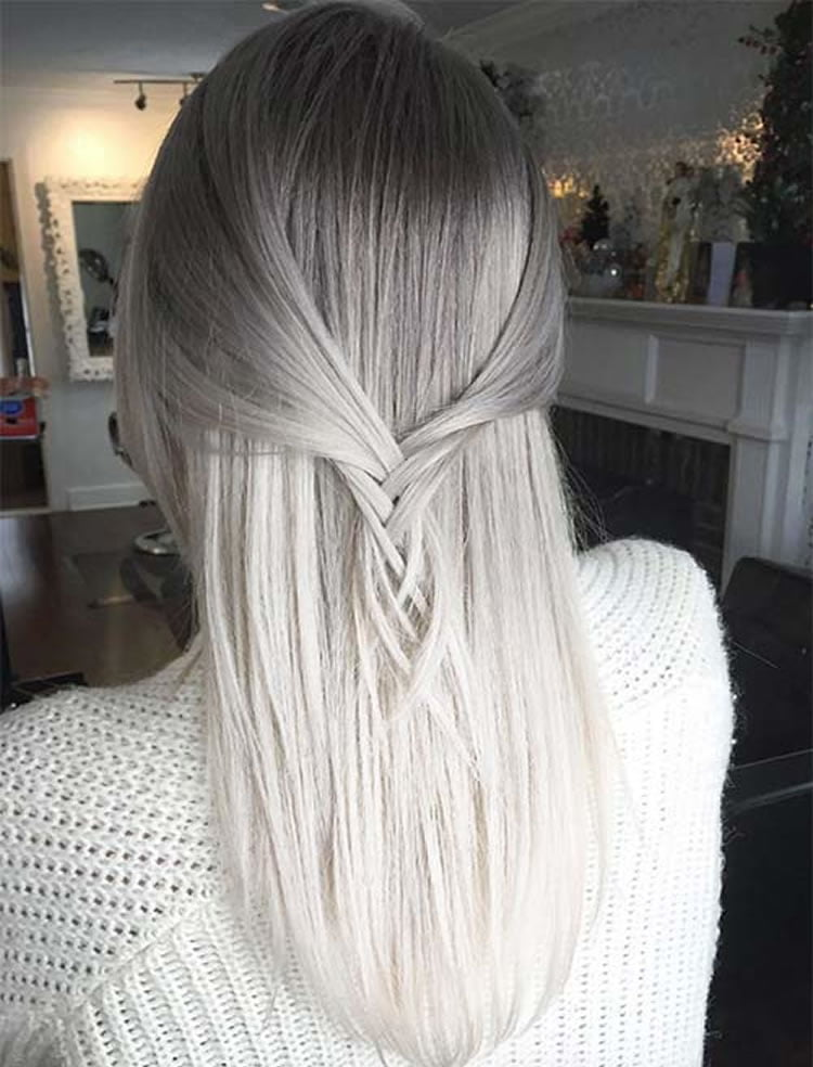Ombre hair for 2017 140 glamorous ombre hair color ideas page grey to white ombre hair 2017 urmus Image collections