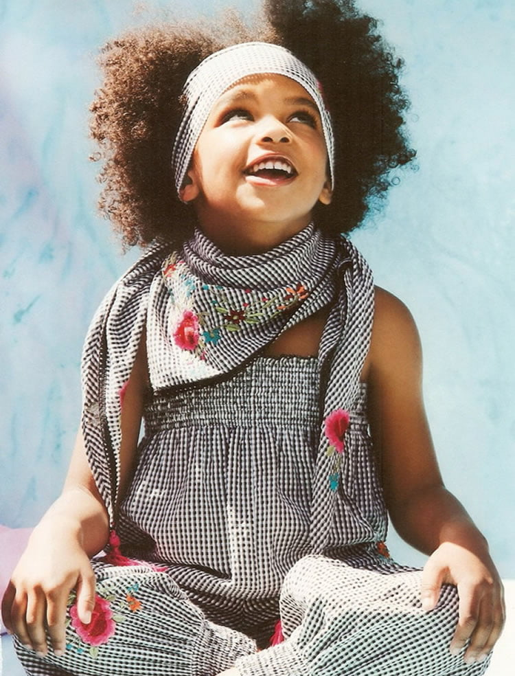 Small black girl