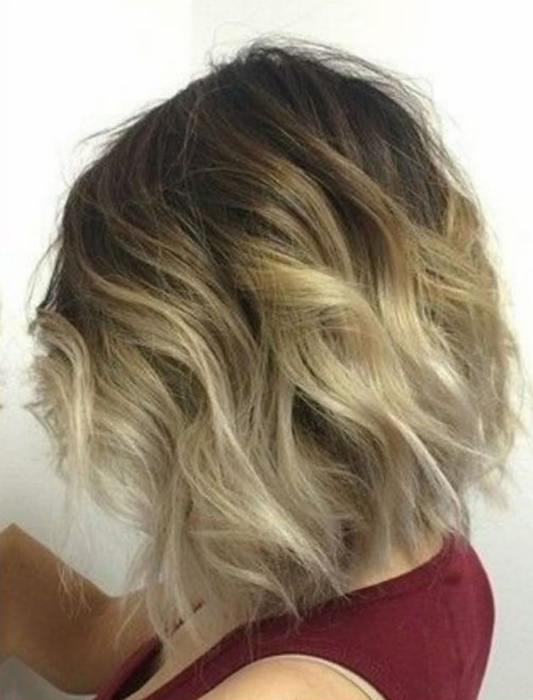 sleek ombre for blonde short hair hairstyles