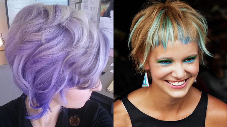 Spectacular Ombre For Purple Short Hair