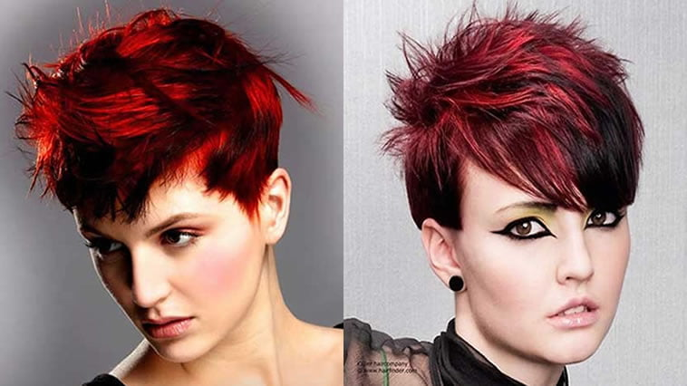 Hair Styles For Short Hair With Color: Red Hair Color For Short Hairstyles