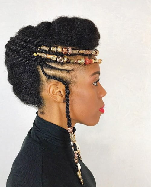 Black Natural Mohawk Updo Hairstyles
