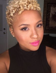 Cool African American Short Curly Hairstyles Blonde Hair | HAIRSTYLES