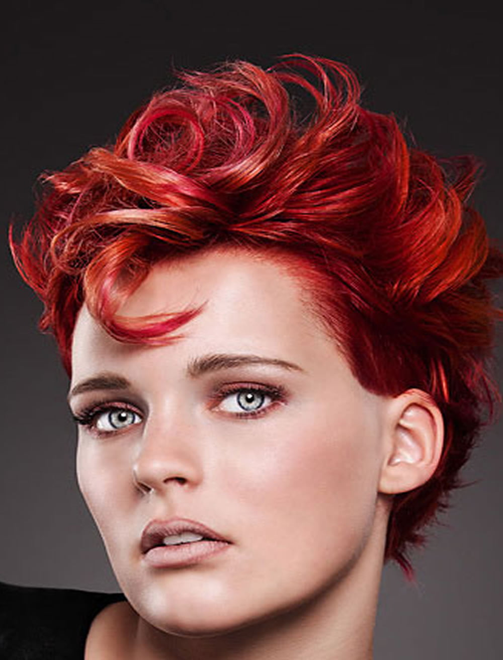 Red Short Hairstyles Curly Hair Color For Summer 2017 Source