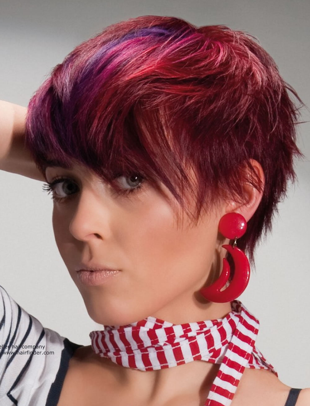 Layered Short Haircuts Red Hair Color Hairstyles