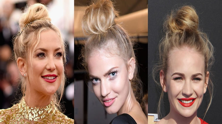 2018 Updo Bun Hairstyles for Women and Girs