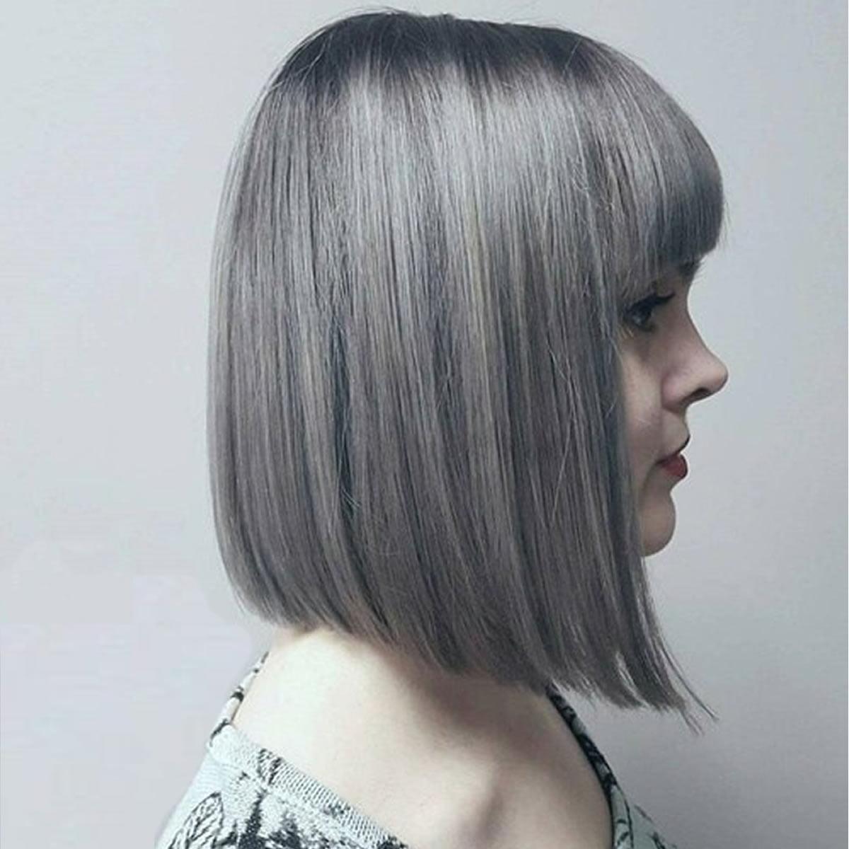 Gray Hair Bob Haircuts